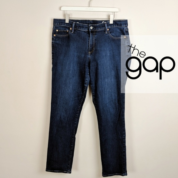 390d0804cf GAP • Authentic High Rise Straight Leg [Jeans]